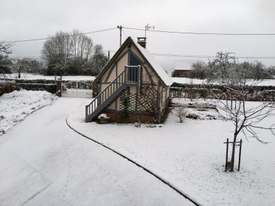 Le Fournil sous la neige